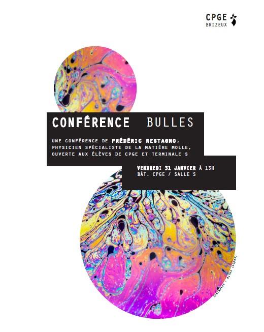Conférence sur les bulles ce vendredi 31 janvier aux CPGE Brizeux